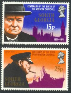South Georgia MNH 39-40 Winston Churchill 1974
