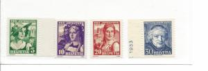 Switzerland, B65-B68, Various Designs Singles, MNH #3