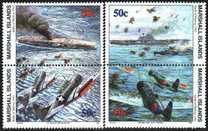 Marshall islands. 1992. 426-29. Battle of the Pacific. MNH.