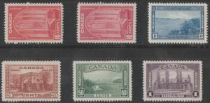 CANADA #241, 241a 242-245 F//XF OG NH COMPLETE SET OF 6 BN1092