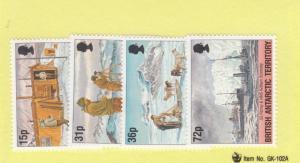 BRITISH ANTARCTIC TERRITORY  # 214-217 VF-MNH  15,31,36,72p OPERATION TABERIN