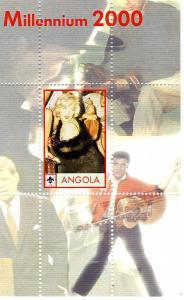 Angola Marilyn Monroe Millennium 2000 s/s Perforated mnh.vf