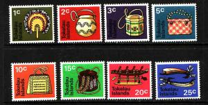 Tokelau-Sc#25-32-Unused NH set-Native Handicrafts-1971-
