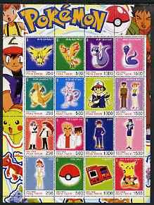Timor (East) 2001 Pokemon #10 (characters nos 145-150 + 1...
