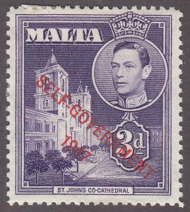 Malta 239 Hinged Unused 1947 St. John's Co-Cathedral O/P