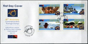 Papua New Guinea. 2018. Partnership with Europe 2 (Mint) First Day Cover