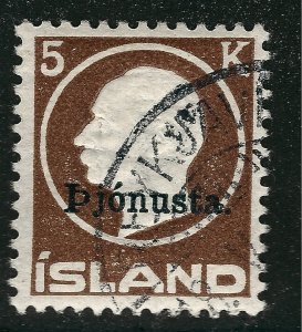 Iceland Important Sc Official O51 Used F-VF SCV $260...an iconic bargain!!
