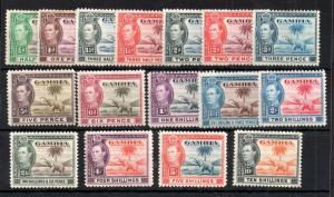 Gambia KGVI 1938 mint LHM set #150-161 WS13880