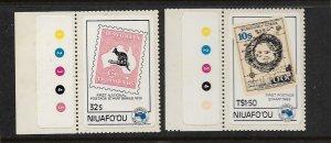 NIUAFO'OU, 48-49, MNH, AUSIPEX'84