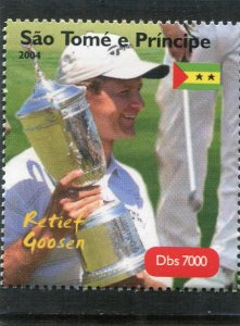 Sao Tome & principe 2004 GOLF Retief Goosen South African 1 Perforated Mint(NH)