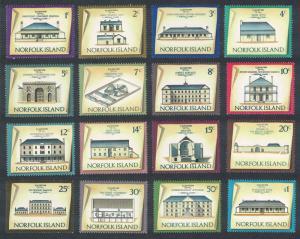 Norfolk Historic Buildings 16v COMPLETE SG#133-148 SC#156-171