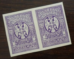 Serbia c1919 Yugoslavia PROOF Revenue Stamps - Pair  C6