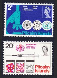 Pitcairn 20th Anniversary of World Health Organisation 2v MH SG#92-93 SC#95-96