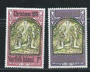 Norfolk Island 179-80 1974 Christmas set MNH