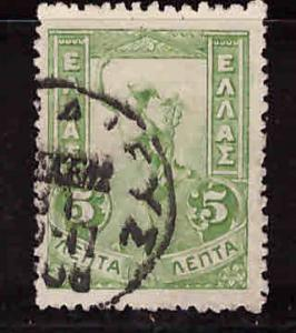 Greece Scott 168 used Mercury stamp