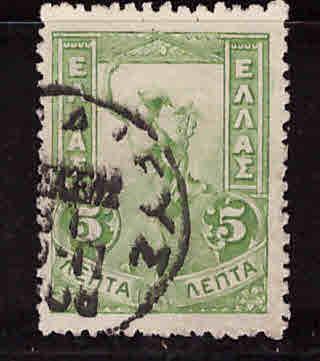 Greece Scott 168 used Mercury stamp