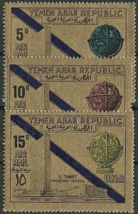 1968 Yemen-North United Nations, UNO, Human Rights Gold Stamps VFMNH! CAT 12$