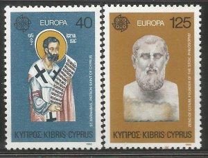CYPRUS  533-534  MNH,  EUROPA