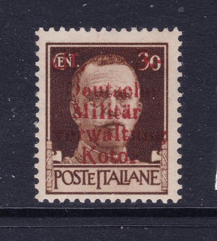 Kotor,German Occ.WW2 an italy 30c overprinted MH