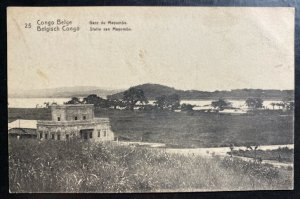 Mint Belgian Congo Stationery RPPC Postcard Cover Mayumba Station