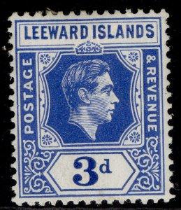 LEEWARD ISLANDS GVI SG108, 3d bright blue, M MINT.