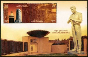 HERRICKSTAMP NEW ISSUES INDIA Sc.# 3080a National Police Memorial  S/S