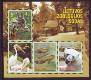 Lithuania Sc 941 2011 Zoo Animals stamp sheet mint NH