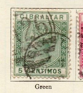 Gibraltar 1889 Early Issue Fine Used 5c. NW-114716