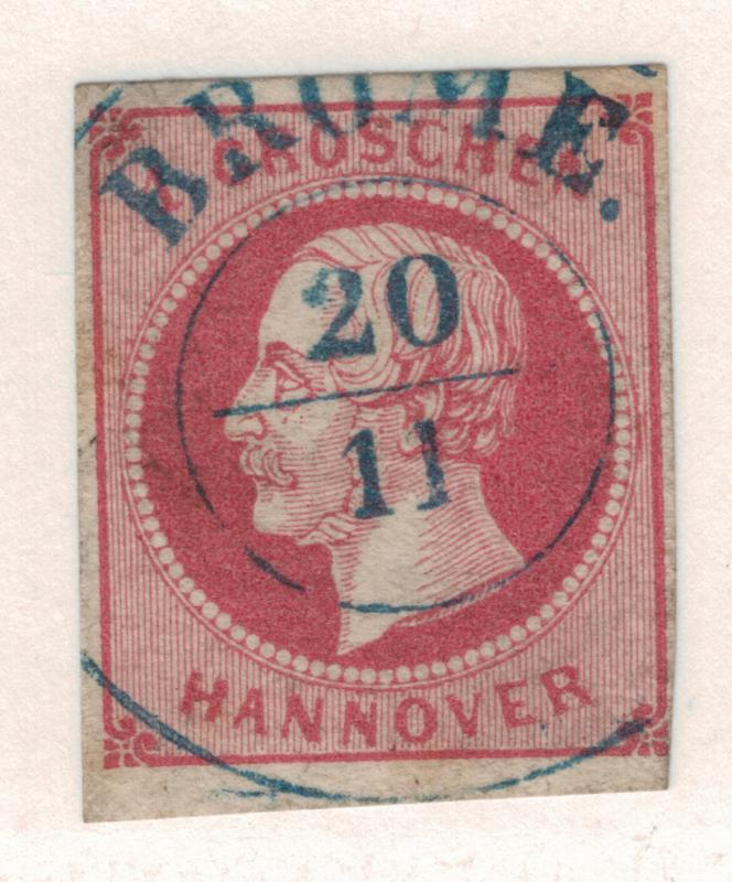 Hannover (German State) Stamp Scott #19, Used, Brome Town Cancel - Free U.S. ...