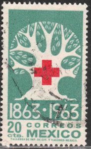 MEXICO 938, Centenary of the International Red Cross USED. VF. (1175)