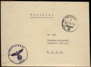 3rd Reich Germany WWII Afrika Korps KRETA Crete Greece Feldpost Cover G97993