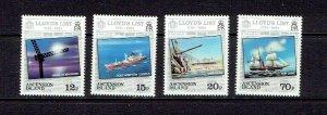 ASCENSION ISLAND - 1984 LLOYD'S LIST - SCOTT 351 TO 354 - MNH