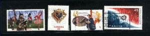 Canada #1655-58   -2   used VF 1997  PD
