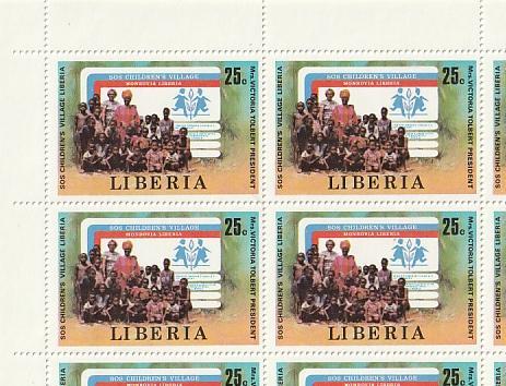 #858-9 Liberia Mint OGNH sheet of 20