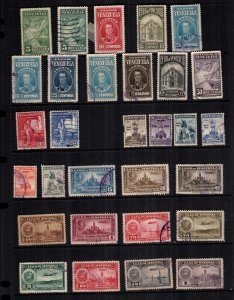 Venezuela  30  diff used and mint cat $ 26.00  lot collection
