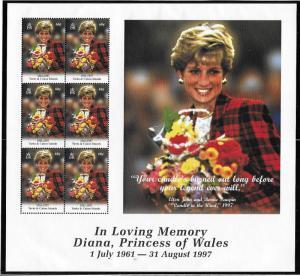 Turks and Caicos Islands  Scott 1271  MNH  Princess Diana