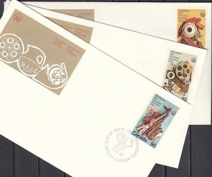 Canada, Scott cat. 684-686. Olympics-Fine Arts issue. 3 First day covers. ^