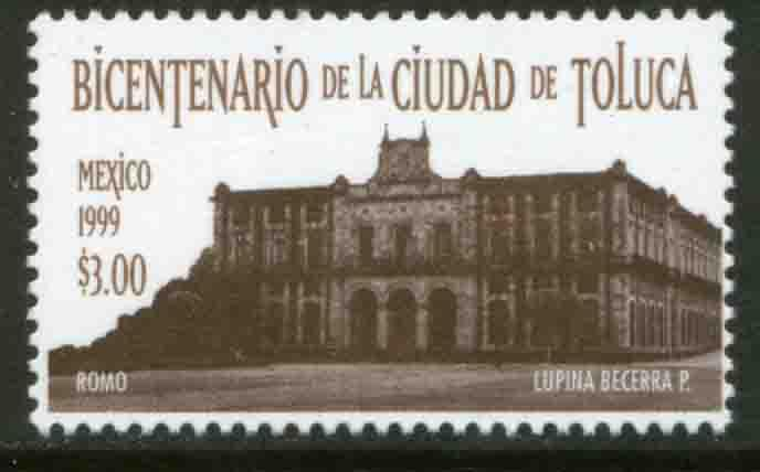 MEXICO 2158, CITY OF TOLUCA, BICENTENARY. MINT, NH. VF.