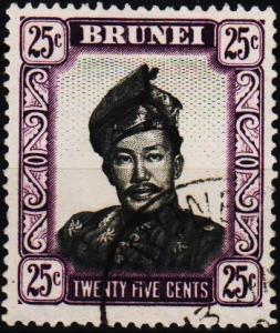 Brunei. 1952 25c. S.G.109 Fine Used