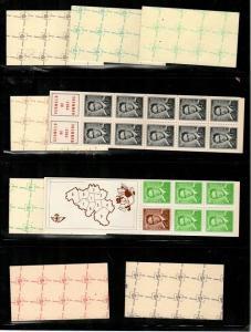 Belgium Scott 432a+b, 434e+f, 472b+c, 473h, 474a+b NH booklets (CV $96.50)