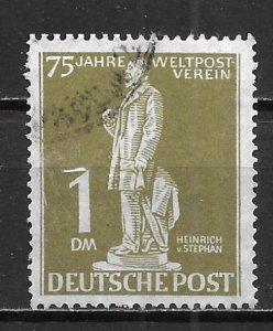 Germany Berlin 9N40 1949 1m 75th UPU single Used
