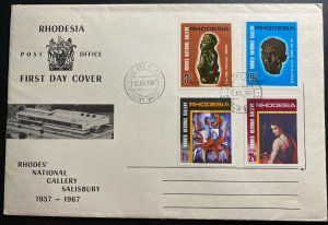 1967 Salisbury Southern Rhodesia First Day Cover FDC National Gallery