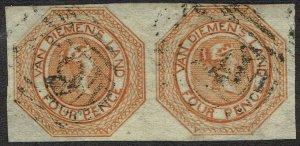 TASMANIA 1853 QV COURIER 4D PAIR USED