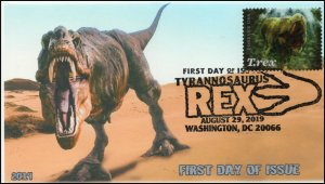 19-190, 2019, Tyrannosaurus Rex, Pictorial Postmark, First Day Cover, T-rex