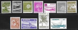 Bangladesh 95-106 Various set MNH