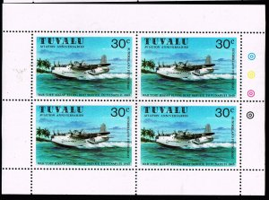 UK STAMP TUVALU WRIGHT BROTHERS MNH S/S STAMPS LOT #3
