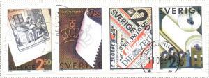Sweden Sc 1837-0 1990 Paper Production stamp set used
