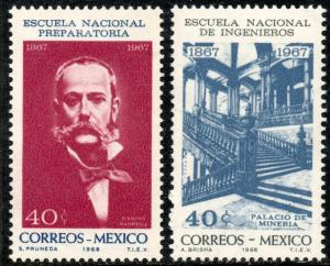 MEXICO 988-989, Centenary of Prep. and Engineering Schools MINT, NH. F-VF.
