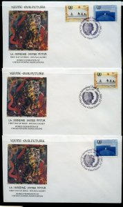 UN 1995 YOUTH:OUR FUTURE WFUNA CACHET BY SYLVESTER STALLONE11 FIRST DAY COVERS