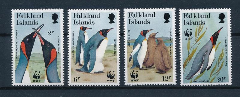 [53618] Falkland Islands 1991 Birds Vögel Oiseaux WWF Penguins from set MNH